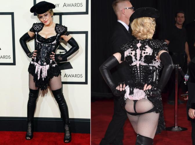 When Will Madonna Start Acting Her Age and Wear Appropriate Outifits? Worst Dressed at the Grammys.