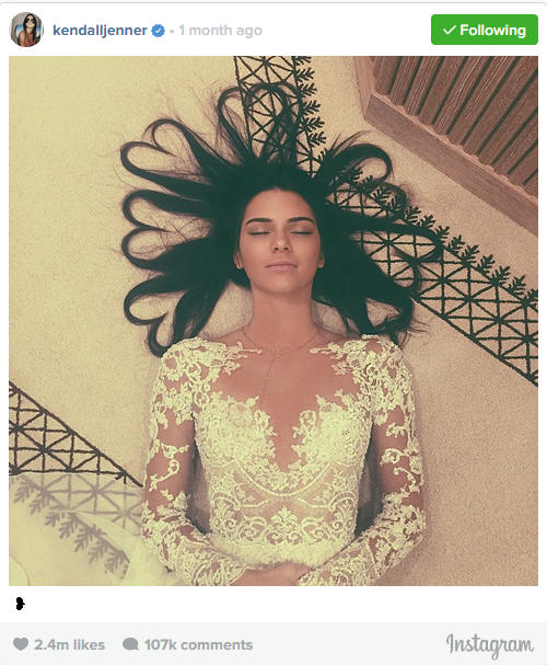 KENDALL JENNER BREAKS INSTAGRAM RECORD