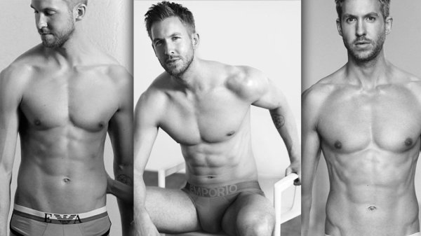 Calvin Harris Displays his abs for Emporio Armani Campaign and it's HOT!