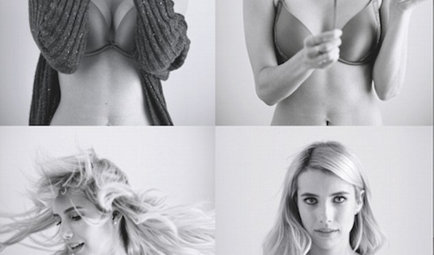 EMMA ROBERTS PHOTOSHOP FREE IN LINGERIE